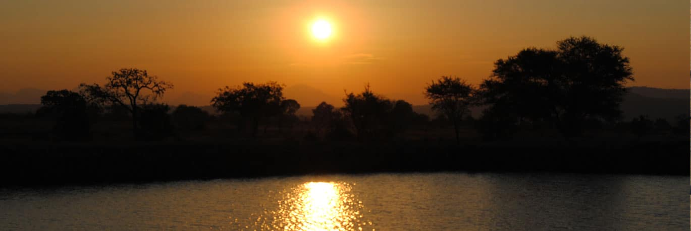 Sunset at Lake Manyara