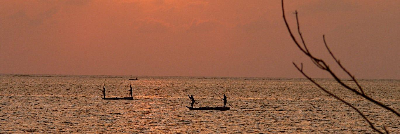 Sunset at Lake Victoria
